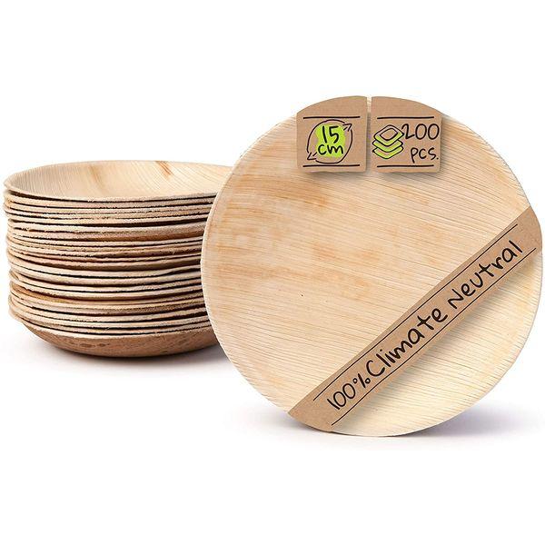 Vaisselle en feuille de palmier : Assiettes 15cm | Vivre Bambou