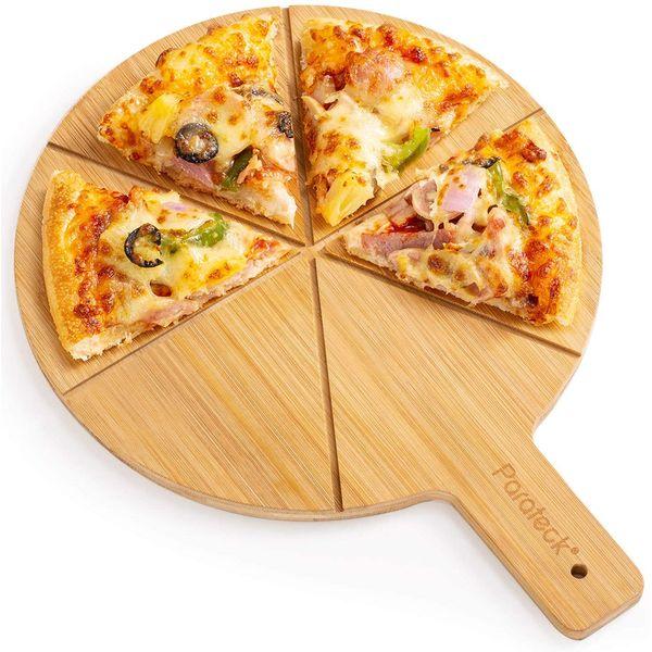 Planche à pizza en bambou naturel | Vivre-Bambou.com