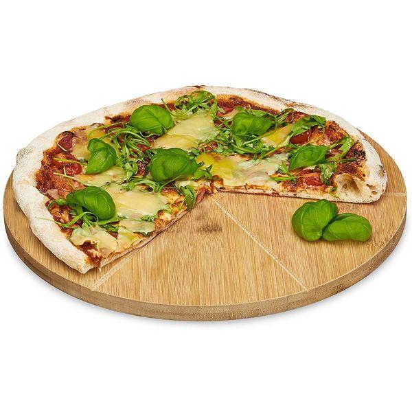 Plat à pizza en bambou | Vivre-Bambou.com
